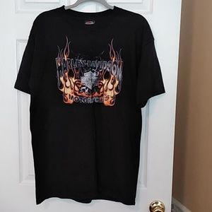 Men's Large Harley Davidson Flames SS T-shirt